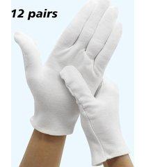 guantes blancos de algodón grueso de vestir desfile material etiquette