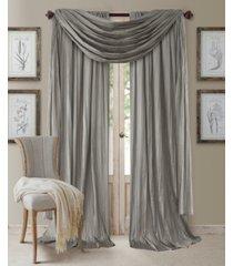 "elrene athena rod pocket 52"" x 84"" pair of curtain panels with scarf valance, set of 3"