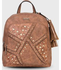 mochila inverness marrón secret