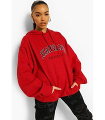 gelicenseerde harvard hoodie, red