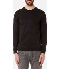emporio armani men's small logo crew sweatshirt - nero - xxl - black