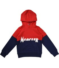 moncler sweater with hood with two-tone writing