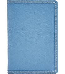 women's topshop leather card holder - blue