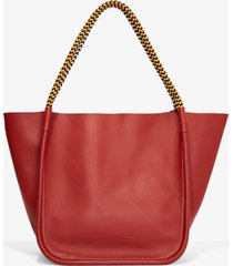 proenza schouler lux rope handle l tote rust/brown one size