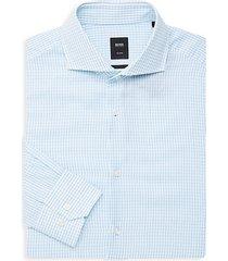 long-sleeve cotton button-down dress shirt