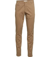 joe slim chino pant - gots/vegan chino broek bruin knowledge cotton apparel