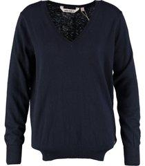 garcia donkerblauwe trui met kasjmier