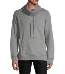 helmut lang men's cowlneck sweatshirt - black - size l