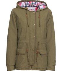 giacca imbottita con fodera a quadri (verde) - john baner jeanswear