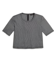 women's rag & bone quinn back zip crop t-shirt