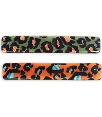 2-piece printed hair clip set