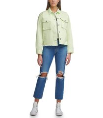 levi's cropped cotton utility jacket
