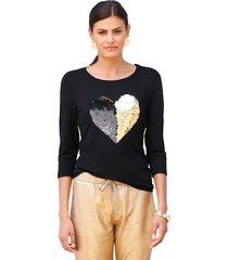 shirt amy vermont zwart::goudkleur