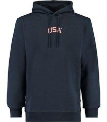 america today hoodie m hood blauw