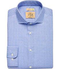 joe joseph abboud repreve® navy check slim fit dress shirt