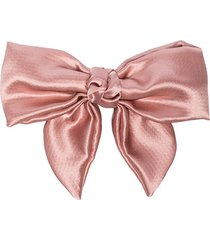 jennifer behr naples bown silk faille hair clip - pink