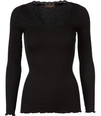 rosemunde rosemunde silke t-shirt vintage spets svart