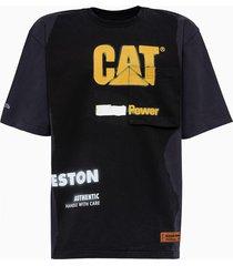 cat power black yellow t-shirt hmaa028s21jer0011018 heron preston