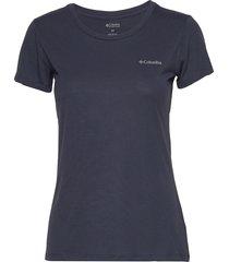 lava lake™ ii ss tee t-shirts & tops short-sleeved blå columbia