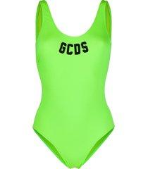 gcds varsity logo swimsuit - green