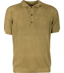 laneus ribbed polo shirt