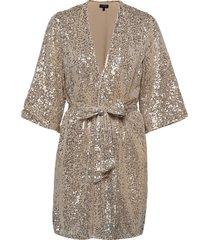 slflucille 3/4 sequins kimono b kimonos grå selected femme