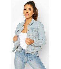 crop jean jacket, light blue