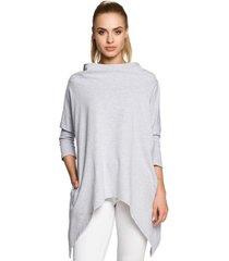 sweater style s103 kokerrok met split vooraan - ecru