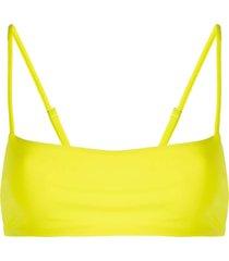 mara hoffman sia square neck bikini top - yellow