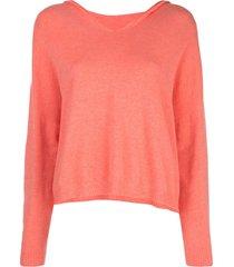 apparis aubrey fine knit hoodie - orange