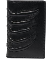 alexander mcqueen textured bi-fold wallet - black