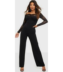 nly one off shoulder lace jumpsuit jumpsuits