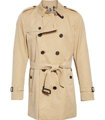 men's burberry kensington double breasted trench coat, size 36 us / 46 eu - beige