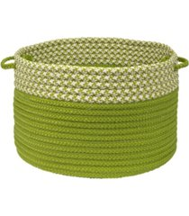 colonial mills houndstooth dipped braided storage basket