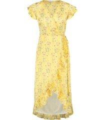 jurk met bloemenprint rosy geel