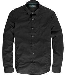 cast iron pitch black overhemd slim fit valt kleiner