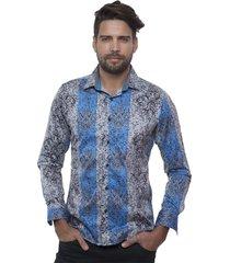 barabas fantasy button down shirt- chapo- size: l