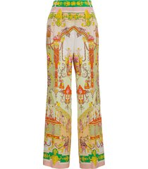 etro silk trousers with multicolor print