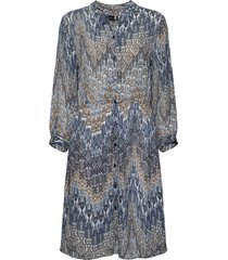 3392 - arlet jurk knielengte blauw sand