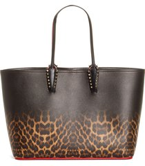 christian louboutin cabata leopard degrade leather tote - (nordstrom exclusive)