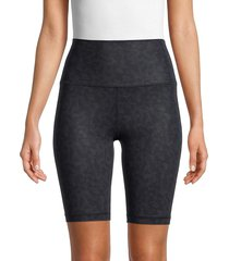 90 degrees by reflex women's lux printed shorts - fragment cement - size l