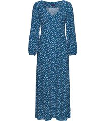 d1. desert rose viscose dress jurk knielengte blauw gant