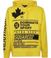 dsquared2 printed hoodie