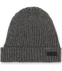kenneth cole reaction men's donegal knit wide cuff fleece lined beanie