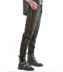 pantalón italiano línea brillo negro bous