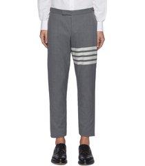 four bar stripe low waist wool suiting pants
