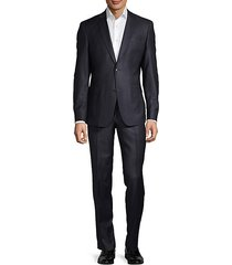 modern-fit solid wool suit