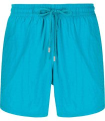 vilebrequin micro ronde des tortues swim shorts - blue