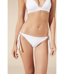 calzedonia tied swimsuit bottom indonesia woman white size 2