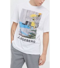j lindeberg michael-distinct cotton t-shirts & linnen flowers